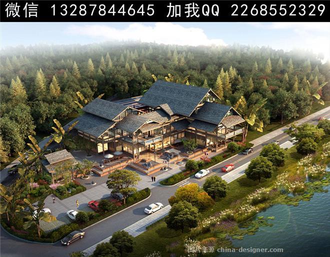 农家乐设计案例效果图-室内设计师93的设计师家园-708054